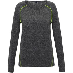 textil Mujer Camisetas manga larga Tridri TR040 Negro Jaspeado