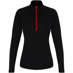 textil Mujer Camisetas manga larga Tridri TR120 Negro/Rojo