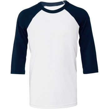 textil Mujer Camisetas manga corta Bella + Canvas BE218 Blanco