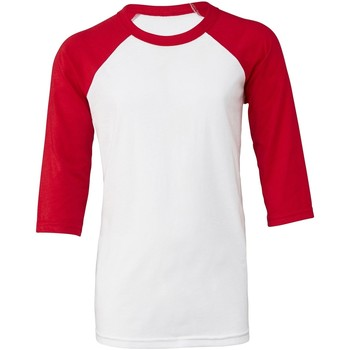 textil Mujer Camisetas manga corta Bella + Canvas BE218 Blanco/Rojo