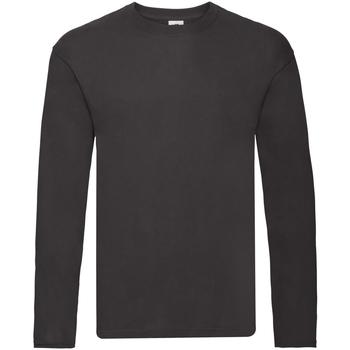 textil Hombre Camisetas manga larga Fruit Of The Loom 61446 Negro