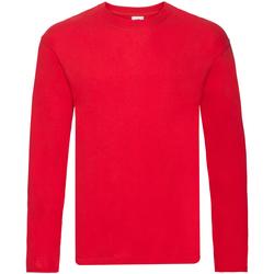 textil Hombre Camisetas manga larga Fruit Of The Loom 61446 Rojo