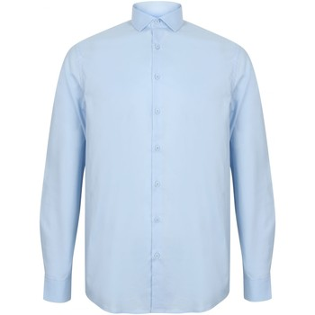 textil Hombre Camisas manga larga Henbury HB532 Azul