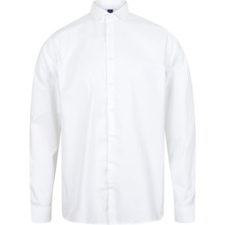 textil Hombre Camisas manga larga Henbury HB532 Blanco