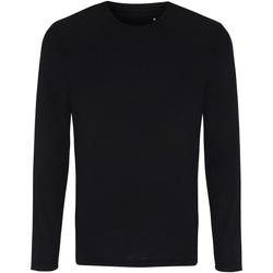 textil Hombre Camisetas manga larga Tridri TR050 Negro
