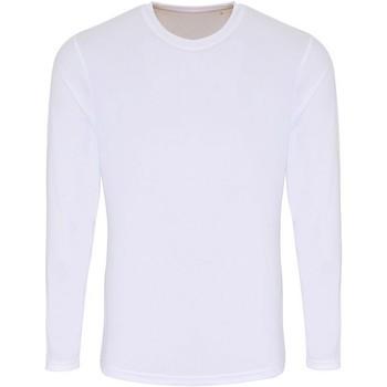 textil Hombre Camisetas manga larga Tridri TR050 Blanco