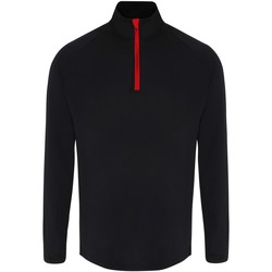 textil Hombre Camisetas manga larga Tridri TR110 Negro/Rojo
