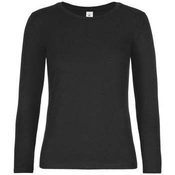 textil Mujer Camisetas manga larga B And C TW08T Negro