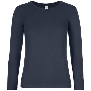 textil Mujer Camisetas manga larga B And C TW08T Azul