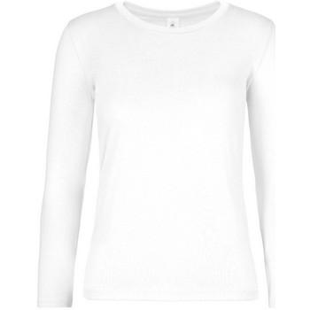 textil Mujer Camisetas manga larga B And C TW08T Blanco