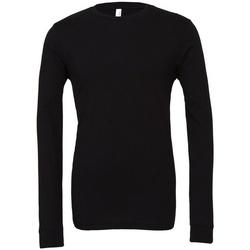 textil Camisetas manga larga Bella + Canvas CA3501 Negro