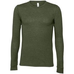 textil Camisetas manga larga Bella + Canvas CA3501 Verde
