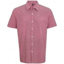 textil Hombre Camisas manga corta Premier PR221 Rojo/Blanco