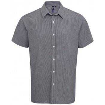 textil Hombre Camisas manga corta Premier PR221 Blanco/Negro