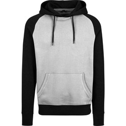 textil Hombre Sudaderas Build Your Brand BY077 Gris/Negro