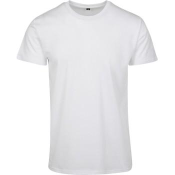 textil Hombre Camisetas manga corta Build Your Brand BY090 Blanco
