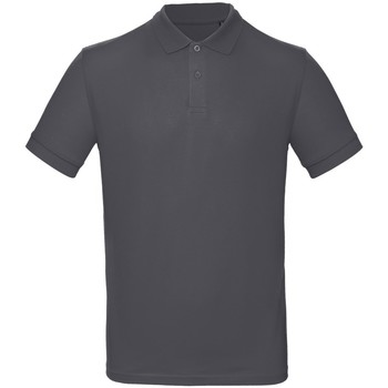textil Hombre Polos manga corta B And C PM430 Gris oscuro