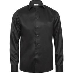 textil Hombre Camisas manga larga Tee Jays TJ4020 Negro