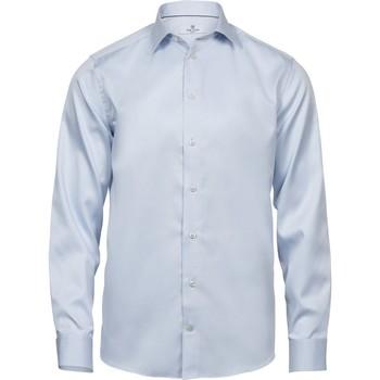 textil Hombre Camisas manga larga Tee Jays TJ4020 Azul