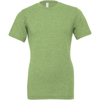 textil Tops y Camisetas Bella + Canvas CA3001CVC Verde Jaspeado
