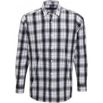 textil Hombre Camisas manga larga Premier PR254 Blanco/Negro