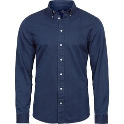 textil Hombre Camisas manga larga Tee Jays TJ4002 Indigo