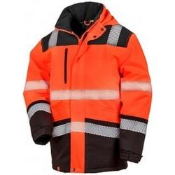 textil Chaquetas Result R475X Naranja Fluorescente/Negro