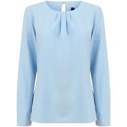 textil Mujer Camisetas manga larga Henbury HB598 Azul Claro
