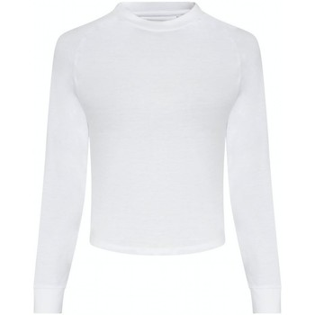 textil Mujer Camisetas manga larga Awdis JC116 Blanco