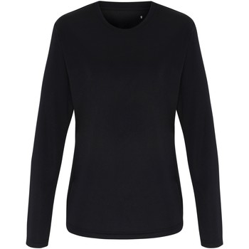 textil Mujer Camisetas manga larga Tridri TR060 Negra