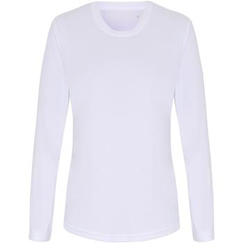 textil Mujer Camisetas manga larga Tridri TR060 Blanco