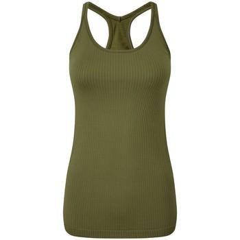 textil Mujer Camisetas sin mangas Tridri TR217 Verde