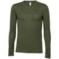 textil Camisetas manga larga Bella + Canvas BE044 Verde