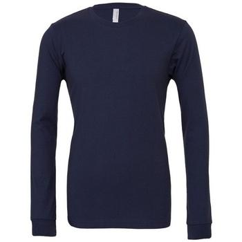 textil Camisetas manga larga Bella + Canvas BE044 Azul