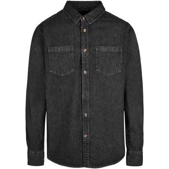 textil Hombre Camisas manga larga Build Your Brand BY152 Negro