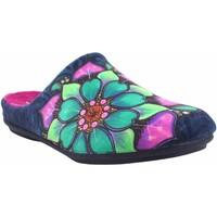 Zapatos Mujer Pantuflas Berevere Ir por casa señora  in 1301 azul Azul