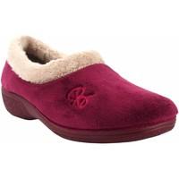 Zapatos Mujer Pantuflas Berevere Ir por casa señora  in 888 burdeos Rojo