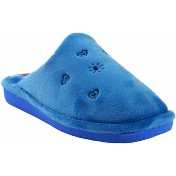 Zapatos Mujer Pantuflas Berevere Ir por casa señora  in 0530 celeste Azul