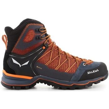Zapatos Hombre Senderismo Salewa MS Mtn Trainer Lite Mid Gtx De color naranja, Azul turquesa
