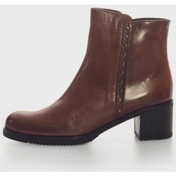 Zapatos Mujer Botines Plumers 5171 Marron