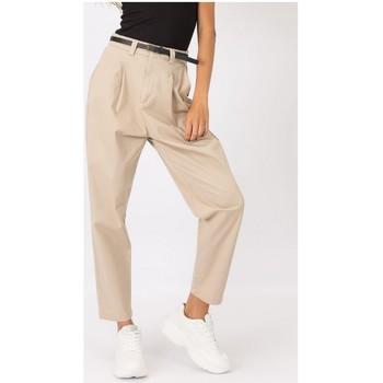 textil Mujer Pantalones Tiffosi PANTALONES CHICA  10041135 Beige