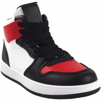 Zapatos Niño Zapatillas altas Bubble Bobble Deporte niño  a3510 bl.roj Rojo