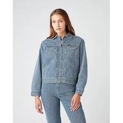 textil Mujer Chaquetas Wrangler Veste femme  Hickory bleu