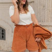 textil Mujer Shorts / Bermudas Céleste CHENE Rojizo