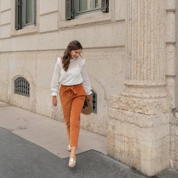 textil Mujer Pantalones con 5 bolsillos Céleste MARRONNIER Camel
