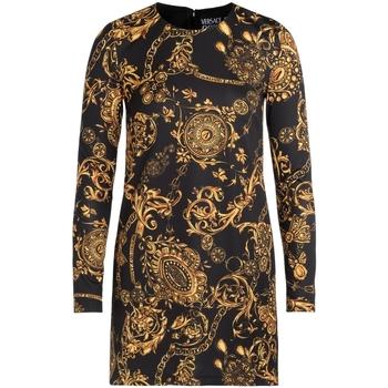 textil Mujer Vestidos cortos Versace Jeans Couture Vestido  negro con estampa Bijoux Multicolor