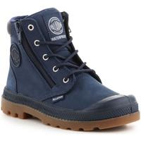 Zapatos Niños Zapatillas altas Palladium Pampa Hi CUFF WP K 53476-425-M azul marino