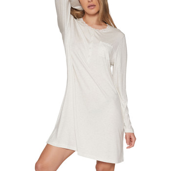 textil Mujer Pijama Admas Chemise de nuit manches longues Lace Night Gris Claro