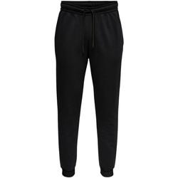 textil Hombre Pantalones de chándal Only & Sons  22018686 Nero