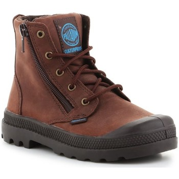 Zapatos Niños Zapatillas altas Palladium Pampa HI Lea Gusset Marrón